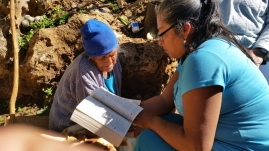 Many (if not all) of the widows and elders that Senen and Bernadita visit cannot read. Much of their ministry is to just go and read the Bible to them in both Spanish and Mixteco.