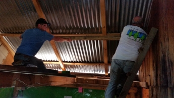 Me and Dwight installing supports for drywall in Senen's home. Our goal was to stop the air flow that kept them home freezing cold during the nights.
