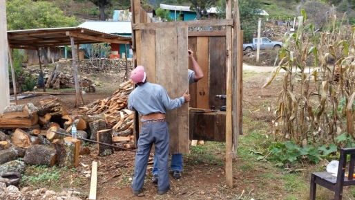 We also helped Eugenio build an outhouse.
