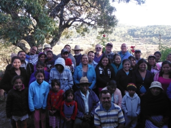 The group of people who came to church the first day we came. The people came from both Chapultepec and Plan De Ayala. Plan De Ayala is a forty minute walk away up a mountain trail. Beni pastors there.