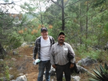 Me and Senen hiking down the mountain trail the goes from the town of Plan De Ayala to the town of Chapultepec.