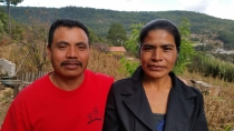 Pastor Beni and his wife Nati. Beni graduated from the Bible Institute in Papalote a year after Senen.